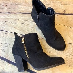 Call it spring black heeled booties